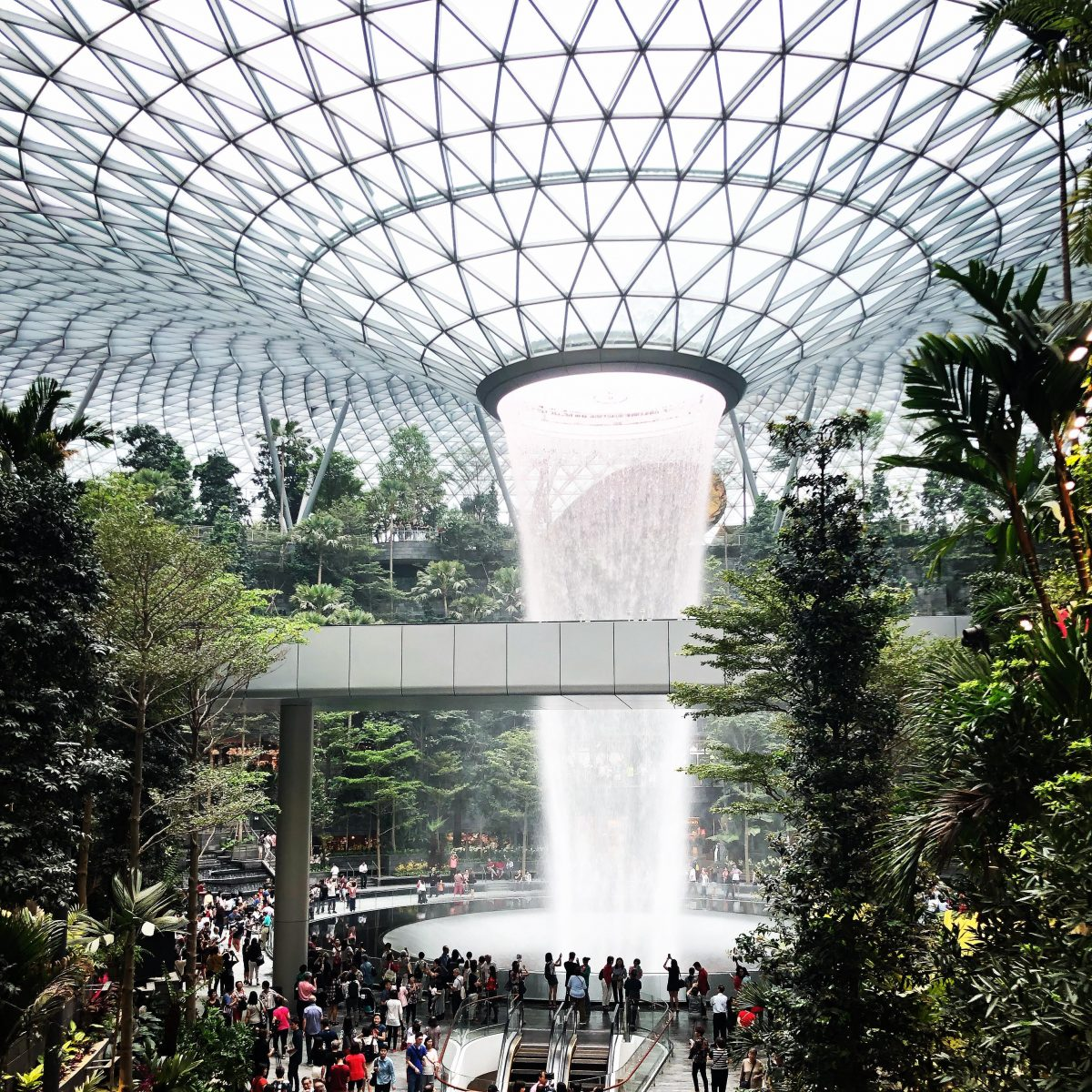 jewel changi rain vortex